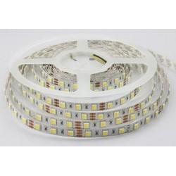 Bandeau de Led SMD5025 24V Ajustable de blanc chaud à blanc froid 60 Led/métres 14,4 Watt/métres Longueur:5m