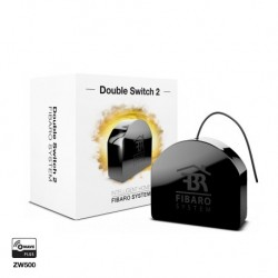 "Fibaro FGS-223 ""Double Switch 2"" - Micromodule Z-Wave+ Interrupteur double On/Off avec mesure de consommation"